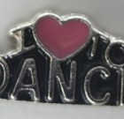 I Love To Dance Charm