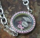 Pink Laambie Locket Bracelet Benefiting Making Strider For Cancer