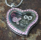 Pink Heart Laambie Locket Benefiting Making Strides Against Breast Cancer