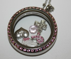 Breast Cancer Awareness Laambie Locket Supporting Making Strides Against Breast Cancer