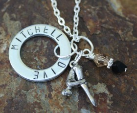 Custom Dive Team Necklace