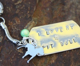 I Love My Pit Bull Key Chain Benefiting The Lazy Pit Bull