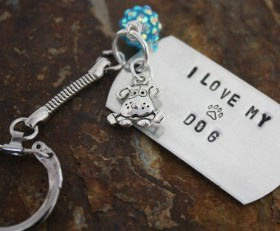 I Love My Dog Key Chain Benefiting Sponsor Adoptions