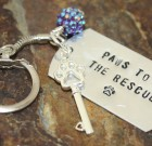 Paws To The Rescue Key Chain Benefiting Paws To The Rescue