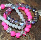 Neon Beach Bling Bracelet Stack