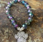 Bling Paw Beaded Bracelet