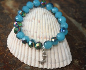 Mermaid & Starfish Beaded Bracelet