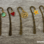 bookmarks antique gold various
