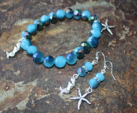 Mermaid Love Bracelet & Earring
