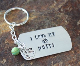 I Love My Mutt(s) Key Chain Benefitting Parker Paws
