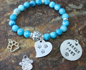 Parker Paws Beaded Bracelet With Or Without Bling