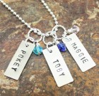Personalized Necklace Celebrating Your Pet Benefitting Paws To The Rescue – THREE NAMES
