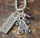 Personalized Necklace Celebrating Boy or Girl
