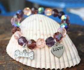 In The Pink Beaded Bracelet Benefiting Lucy's Lost Loved Ones
