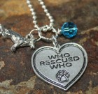 Who Rescued Who Necklace