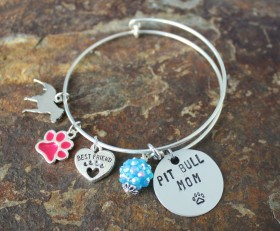 The Lazy Pit Bull Adjustable Bangle