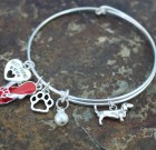 Dog Lovers Adjustable Bangle Bracelet