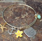 The Gold Beach Adjustable Bangle