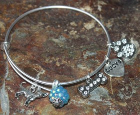 Adjustable Bangle Bracelet Benefiting Lucy's Lost Loved Ones