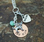 Dog Mom Necklace Benefiting Lucy's Lost Loved Ones