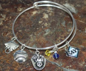 Tampa Rays Adjustable Bangle Bracelet