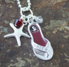 Florida State Flip Flop Necklaces