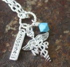 Happiness & Caduceus Necklace