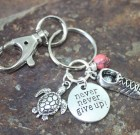 Turtles Never Never Give Up Keychain