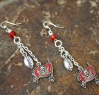 Tampa Bay Bucs Football Earrings