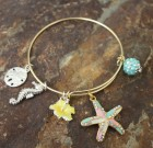 The Colors of Starfish Adjustable Bangle Bracelet