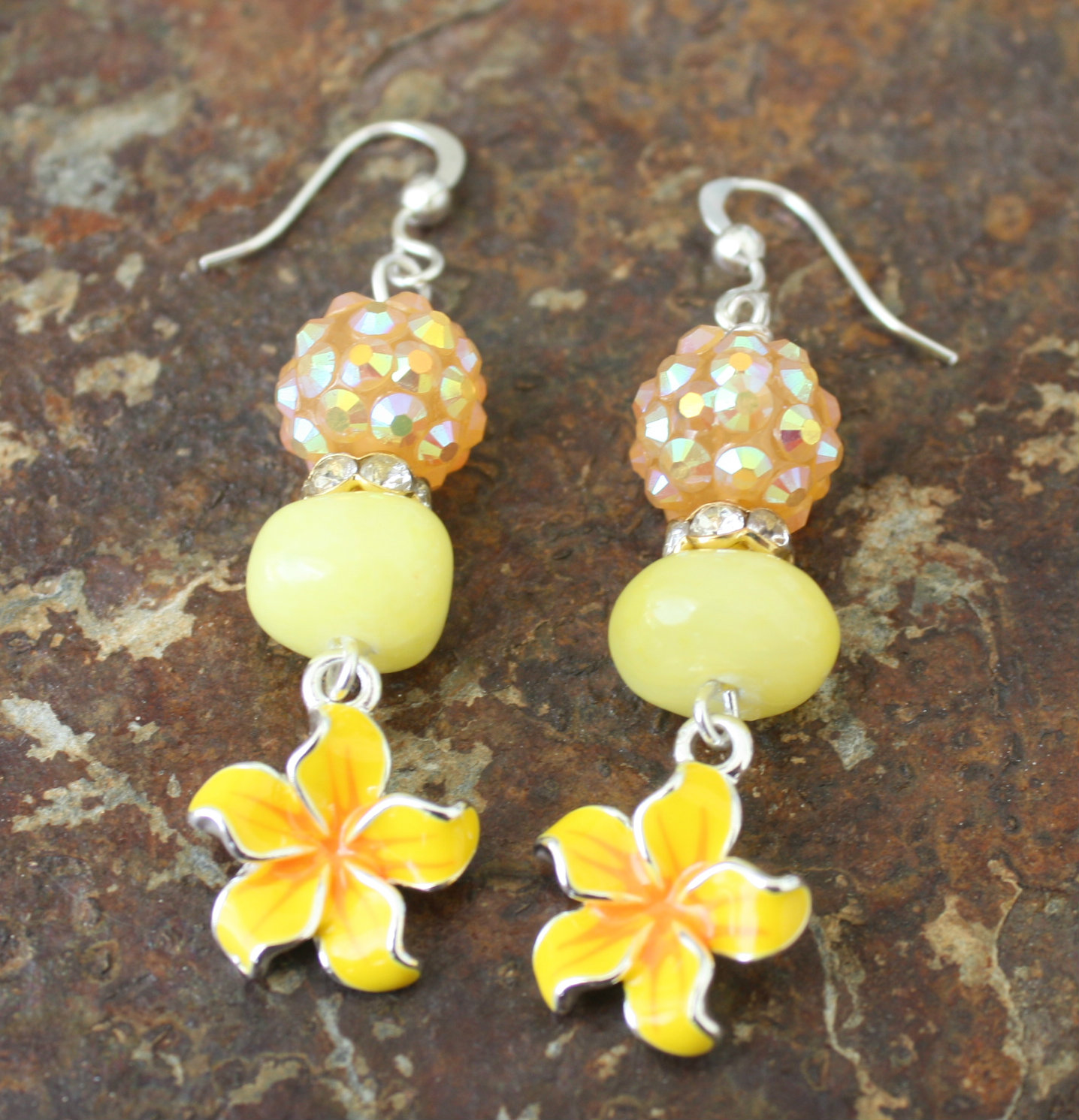 Mellow Yellow Flowers Blue Laamb Designs