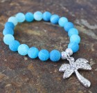 Blue Sparkle Palm Tree Bracelet