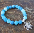 Ocean Blue Sparkle Turtle