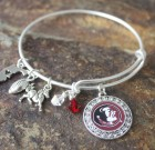 Florida State University Adjustable Bangle Bracelet