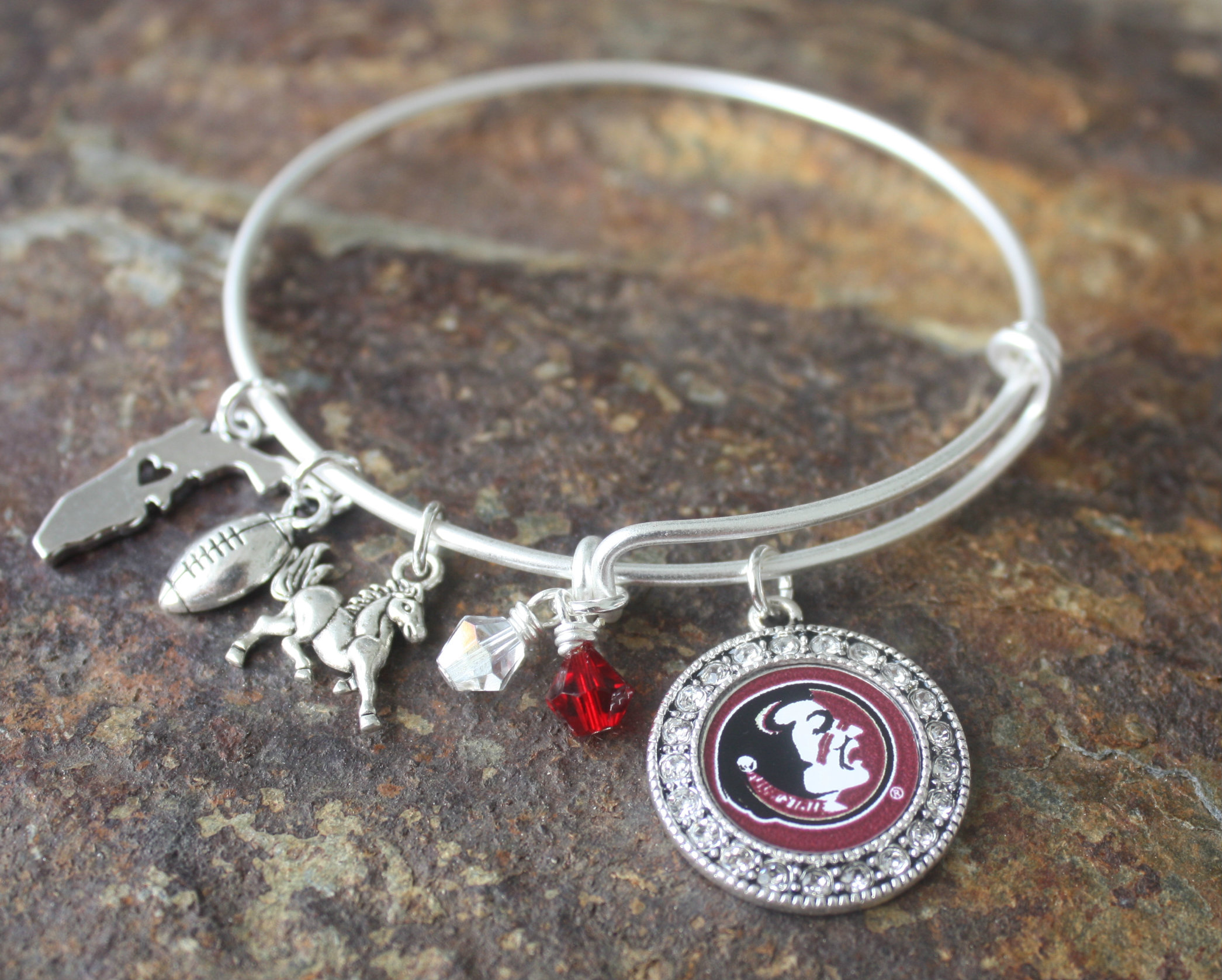Florida State University Adjule Bangle Bracelet
