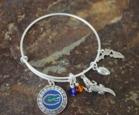 Florida Gators Adjustable Bangle Bracelet