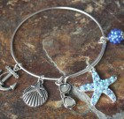 Ocean Blue Starfish Adjustable Bangle