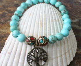 Natural Turquoise Tree of Life