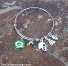 Green Bay Packers Cheesehead Adjustable Bangle