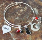 Cat Lovers Adjustable Bangle Bracelet