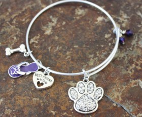 Paw Lovers Adjustable Bangle