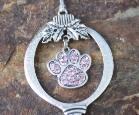 Crystal Paw Ornament