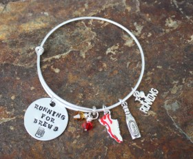 Running For Brews Adjustable Bangle Bracelet