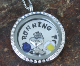 Running For Brews Locket With Charms