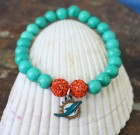 Miami Dolphins Beaded Bracelet