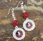 Florida State Bling Earrings