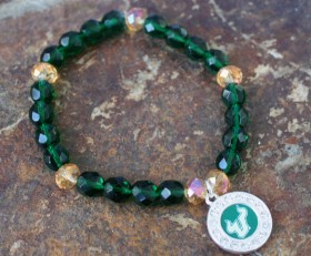 University of South Florida Beaded Bracelet