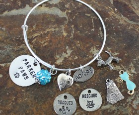 Dog And Cat Adjustable Bracelet Benefiting Parker Paws