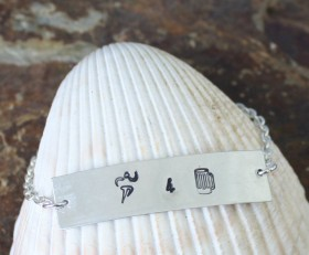 Running For Brews Symbol Bracelet