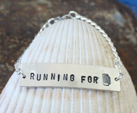 "Running For Brews ""ID"" Style Bracelet"